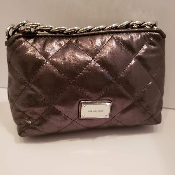 MICHAEL Michael Kors Handbags - Michael Kors charcoal gray quilted mini bag